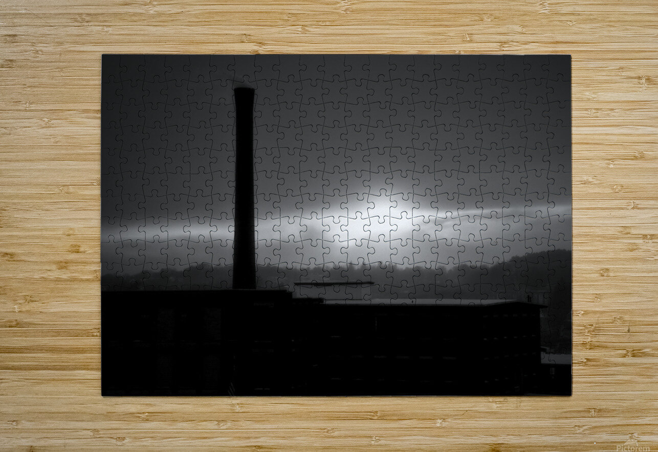 Smokestack Number Nine  HD Metal print with Floating Frame on Back