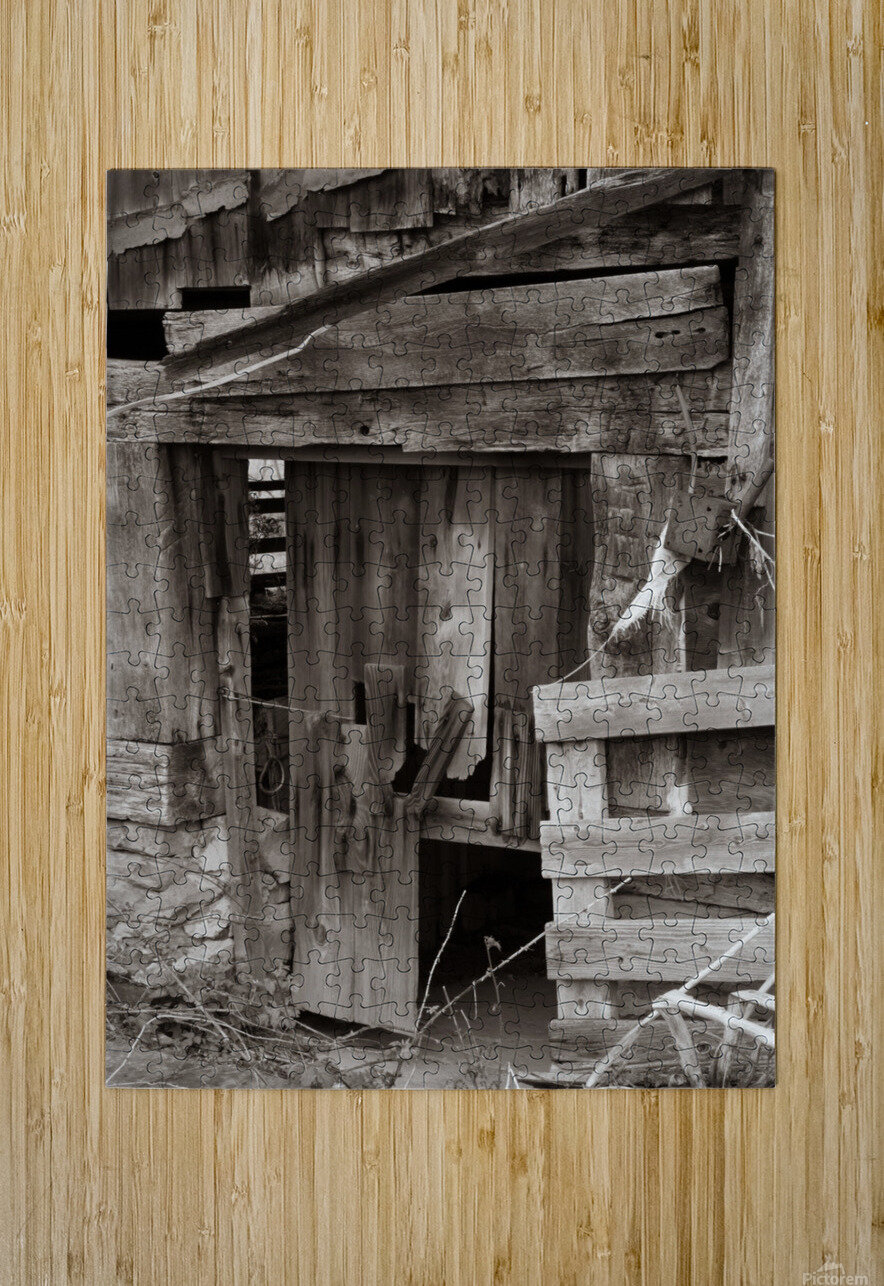 Hints Of Modern ap 1893 B&W  HD Metal print with Floating Frame on Back
