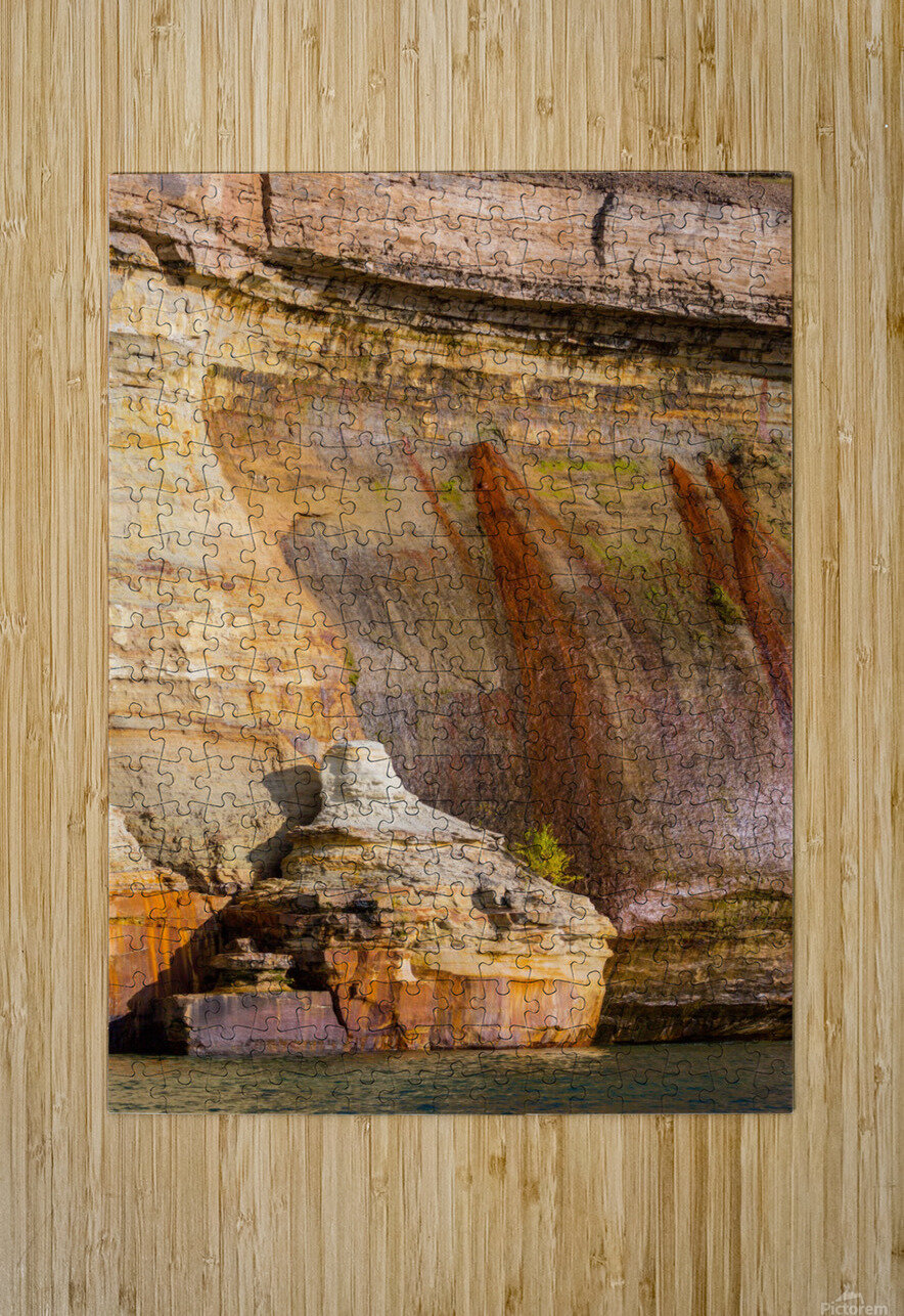 Pictured Rocks ap 2508  HD Metal print with Floating Frame on Back
