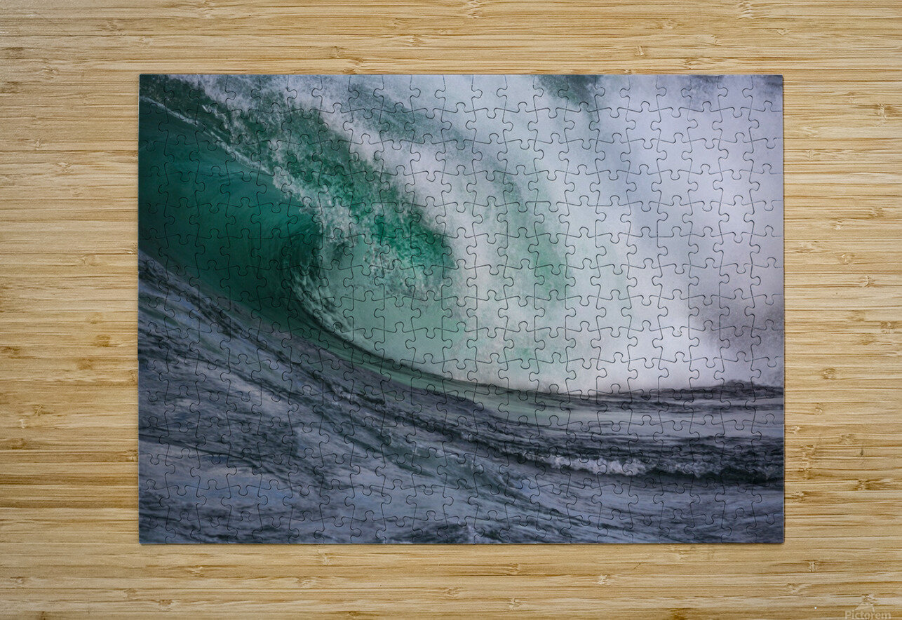 Wave Curl ap 2681  HD Metal print with Floating Frame on Back