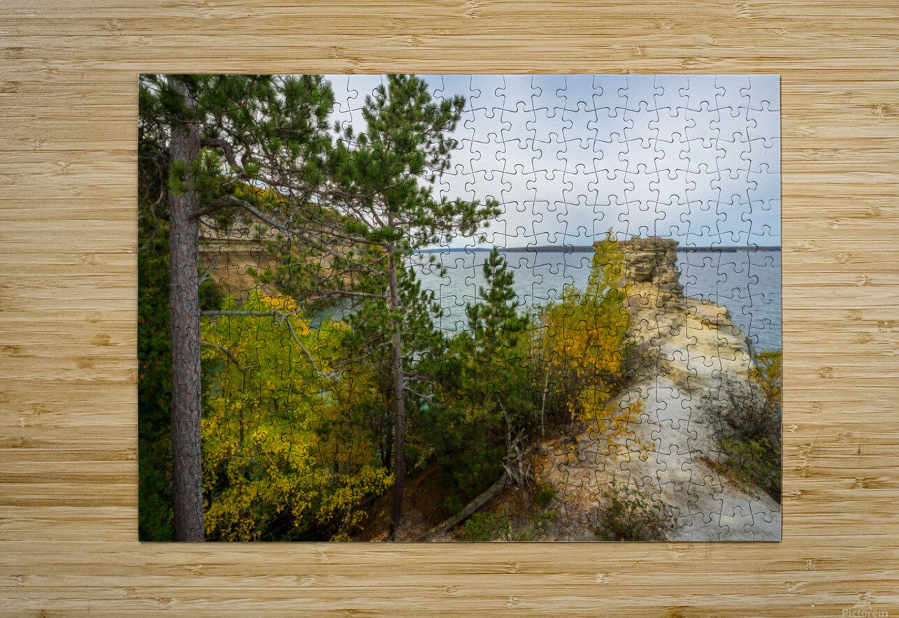 Miners Castle ap 2582  HD Metal print with Floating Frame on Back