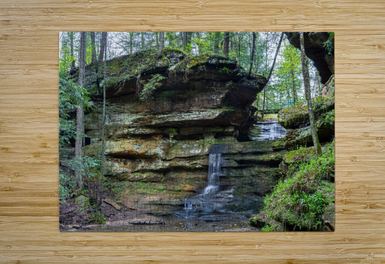 Lodge Falls apmi 1649  HD Metal print with Floating Frame on Back