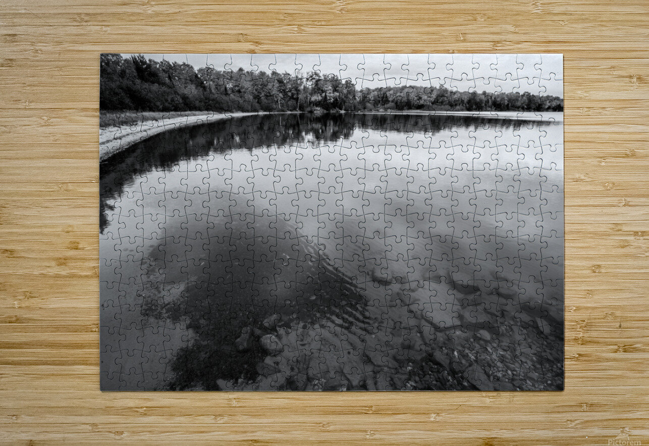 Reflection ap 2595 B&W  HD Metal print with Floating Frame on Back