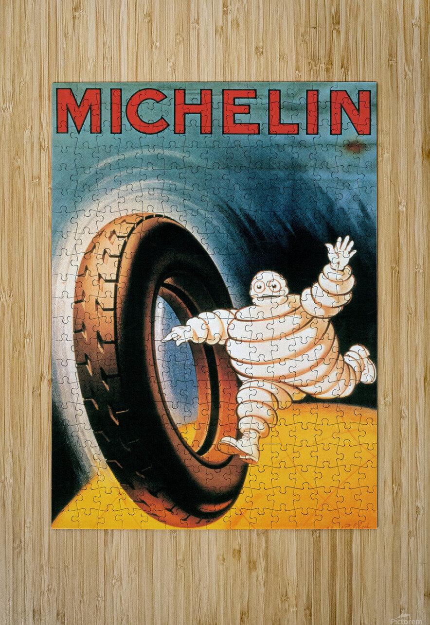 Michelin Poster  Impression métal HD avec cadre flottant sur le dos