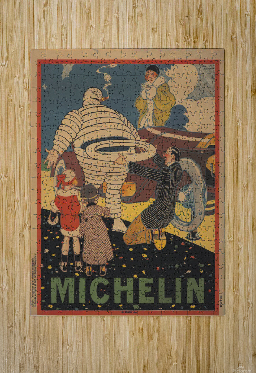 Michelin Pneu  Impression métal HD avec cadre flottant sur le dos