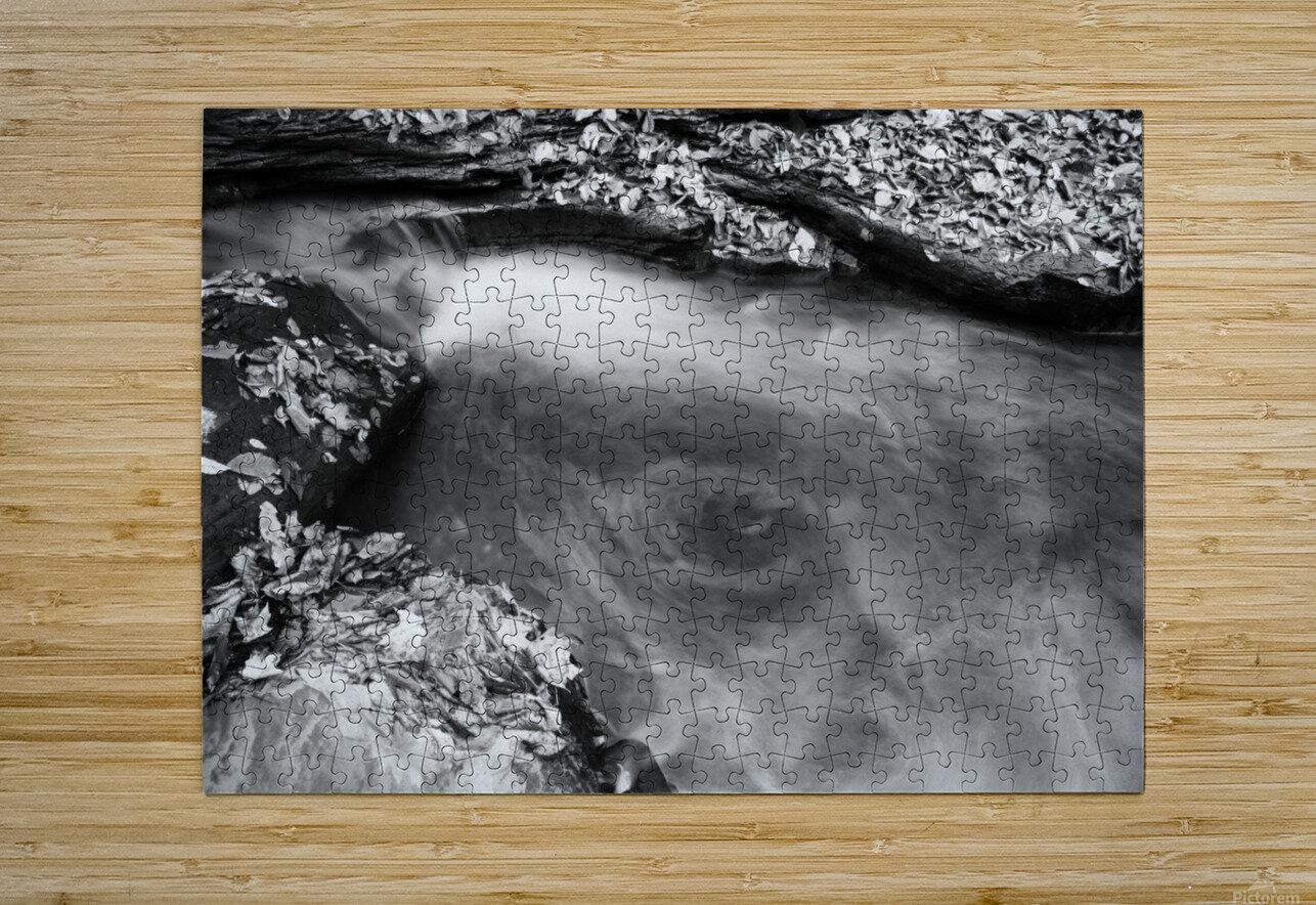 Roaring Run ap 1961 B&W  HD Metal print with Floating Frame on Back