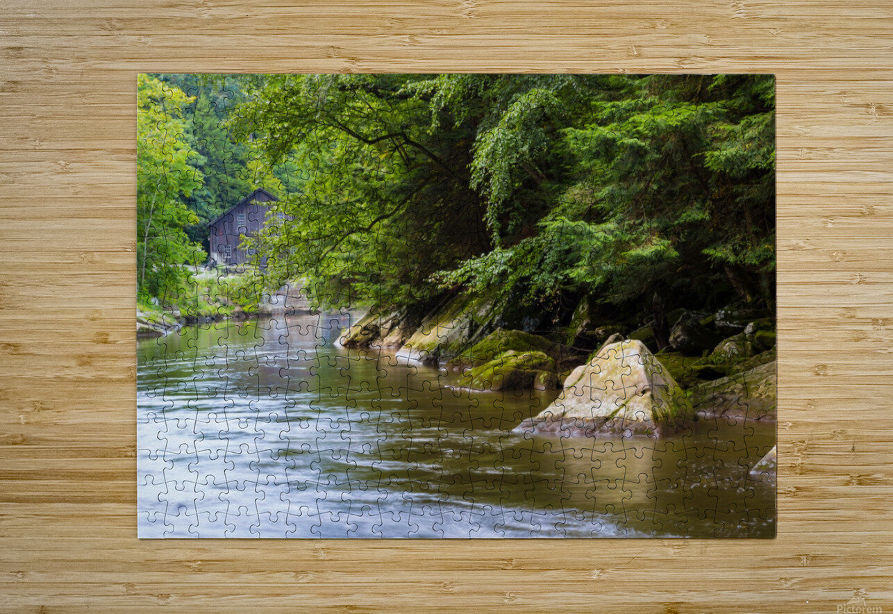 Slippery Rock Creek ap 1944  HD Metal print with Floating Frame on Back