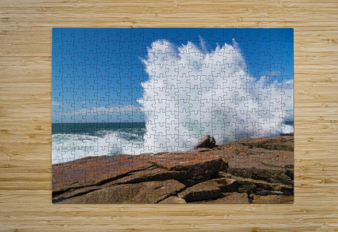 Crashing Wave ap 2309  HD Metal print with Floating Frame on Back