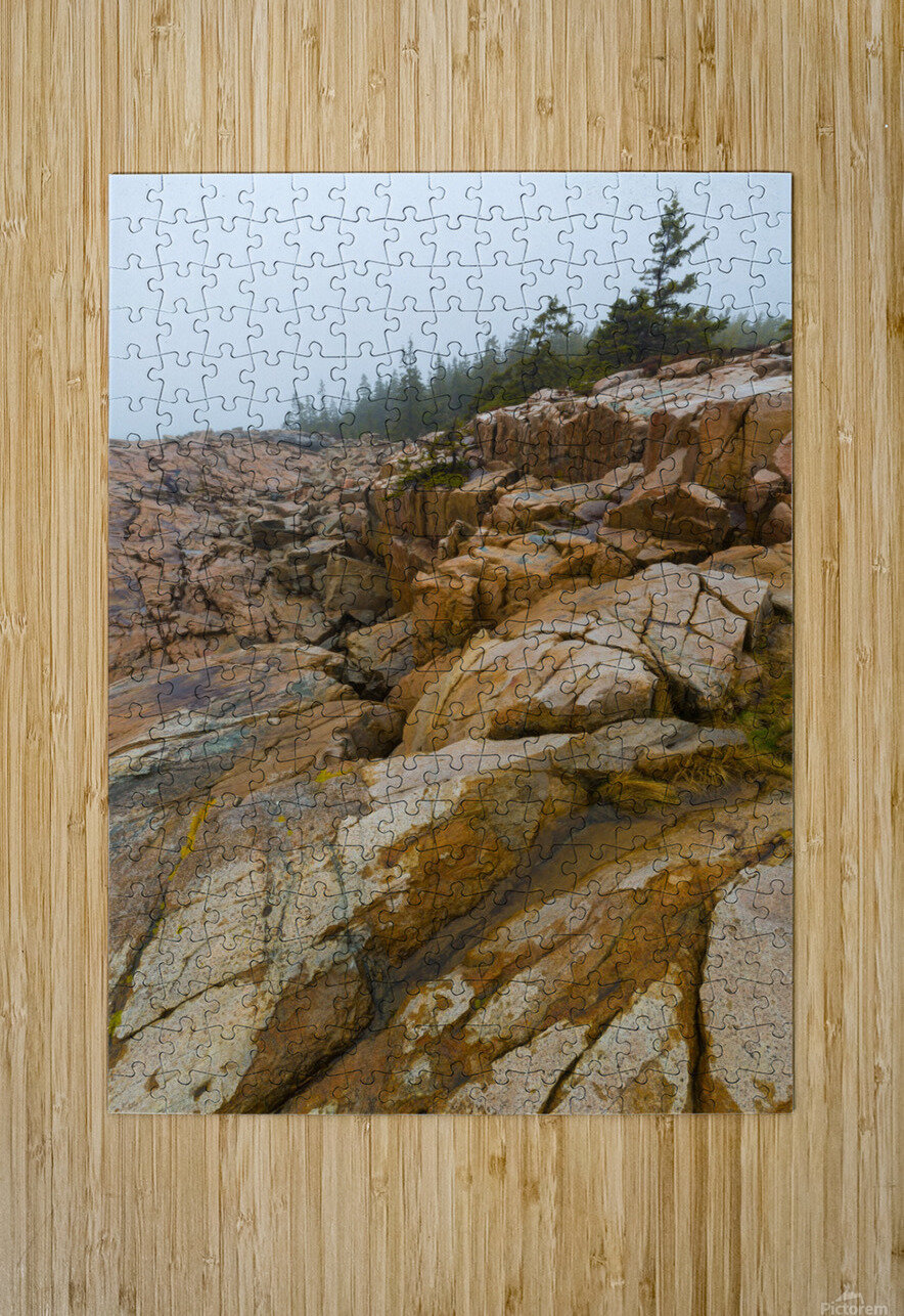 Granite Boulders ap 2270  HD Metal print with Floating Frame on Back