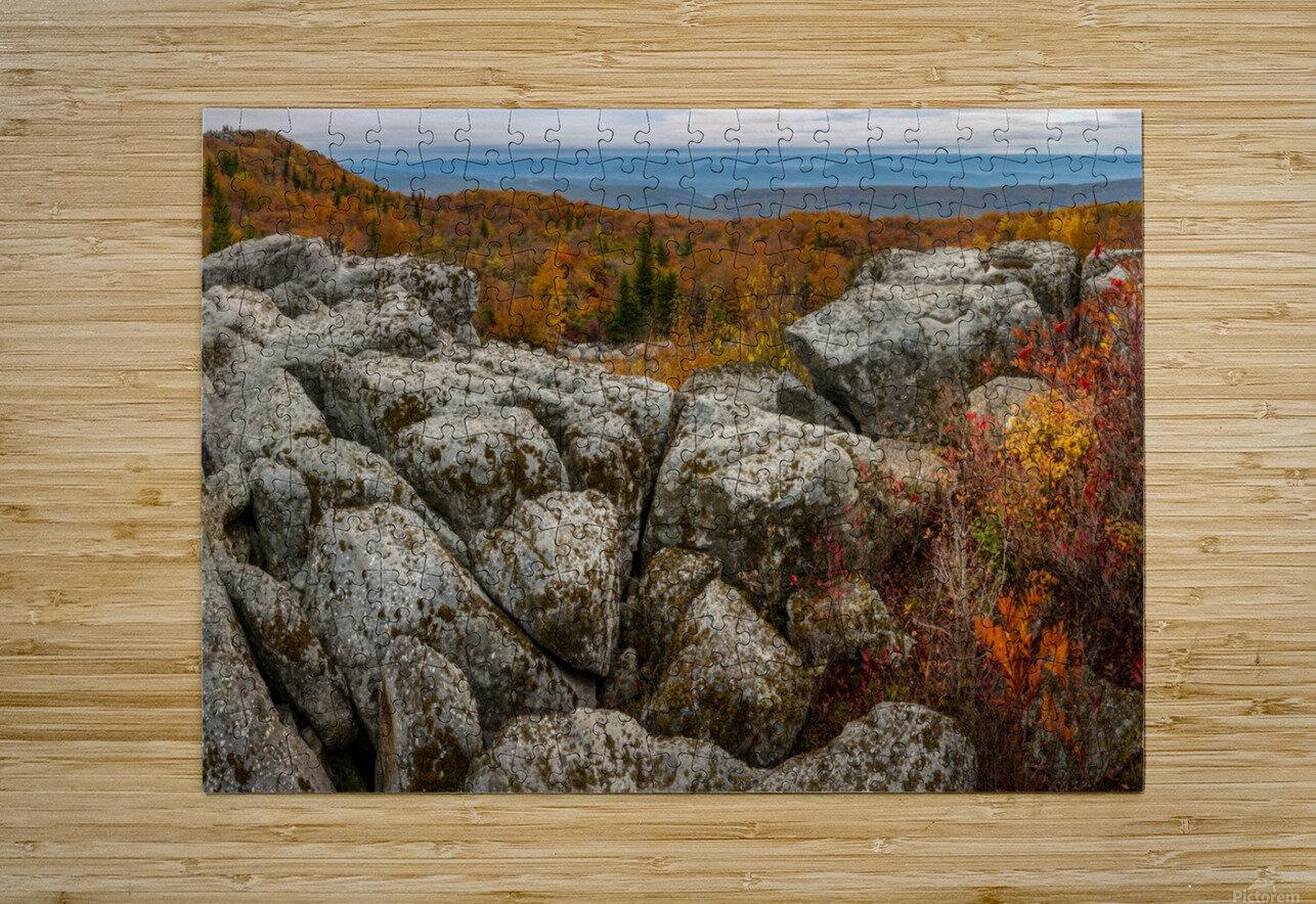 Bear Rocks Overlook apmi 1793  HD Metal print with Floating Frame on Back
