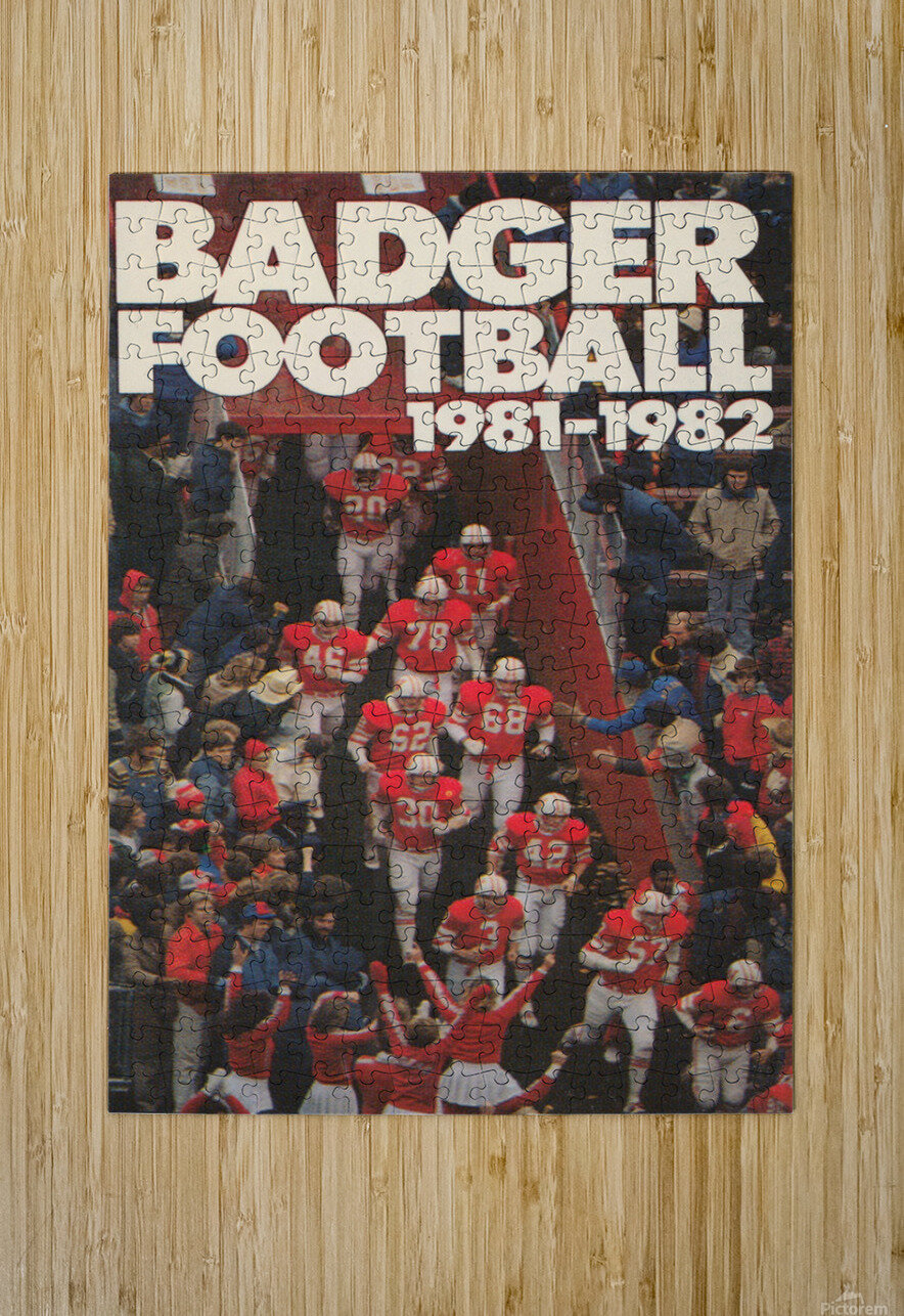 1981 Wisconsin Badgers Football Poster  HD Metal print with Floating Frame on Back