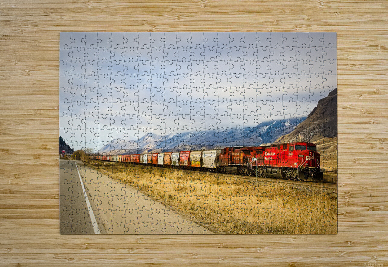 Great Canadian Railroad  HD Metal print with Floating Frame on Back