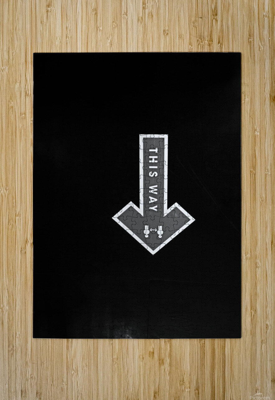 This Way  HD Metal print with Floating Frame on Back