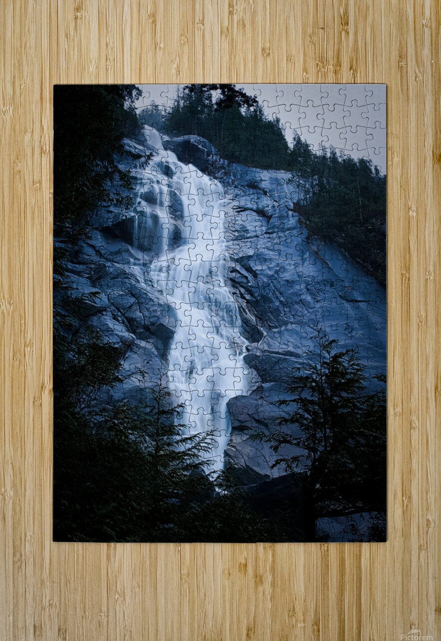 Blue Falls  HD Metal print with Floating Frame on Back