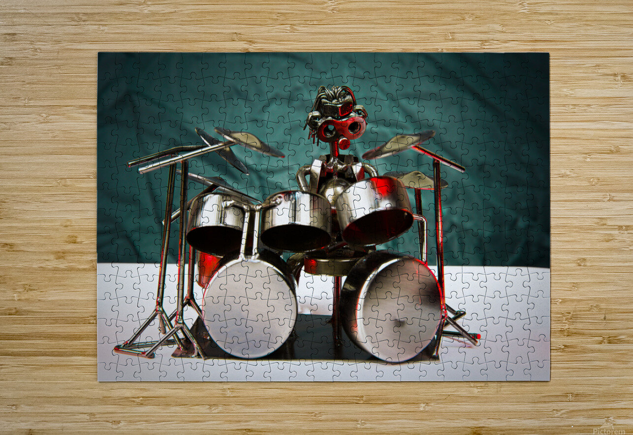 Nuthead on the Drums  HD Metal print with Floating Frame on Back