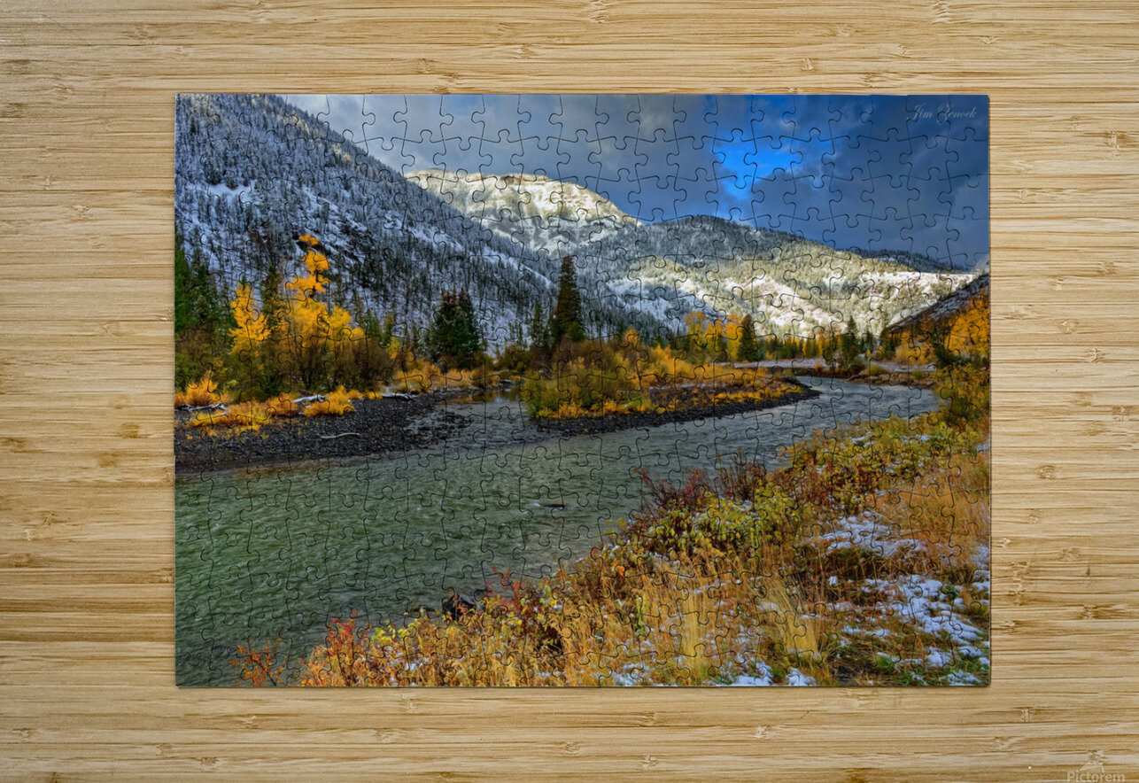 Yellowstone National Park  HD Metal print with Floating Frame on Back