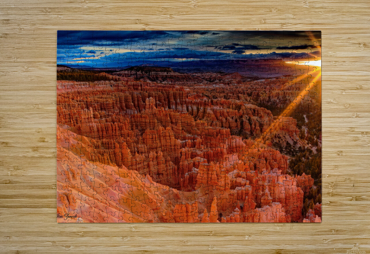 Bryce Canyon National Park Utah  HD Metal print with Floating Frame on Back