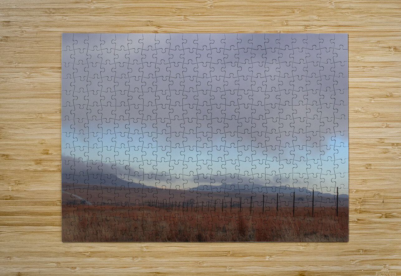 Fence  HD Metal print with Floating Frame on Back