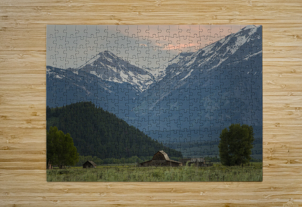 The Barn  HD Metal print with Floating Frame on Back