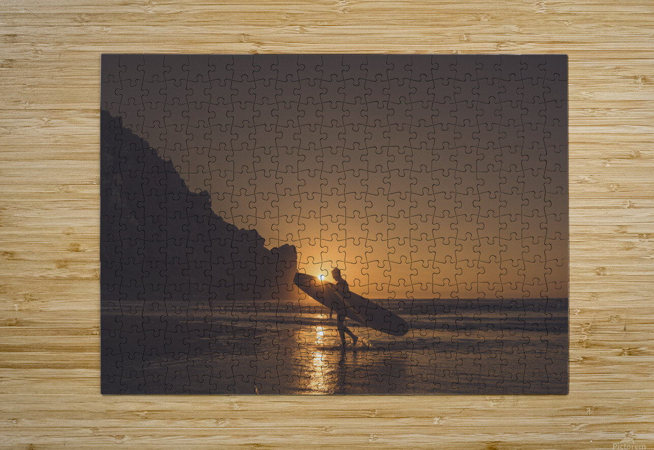 Morro Bay Surfer  HD Metal print with Floating Frame on Back