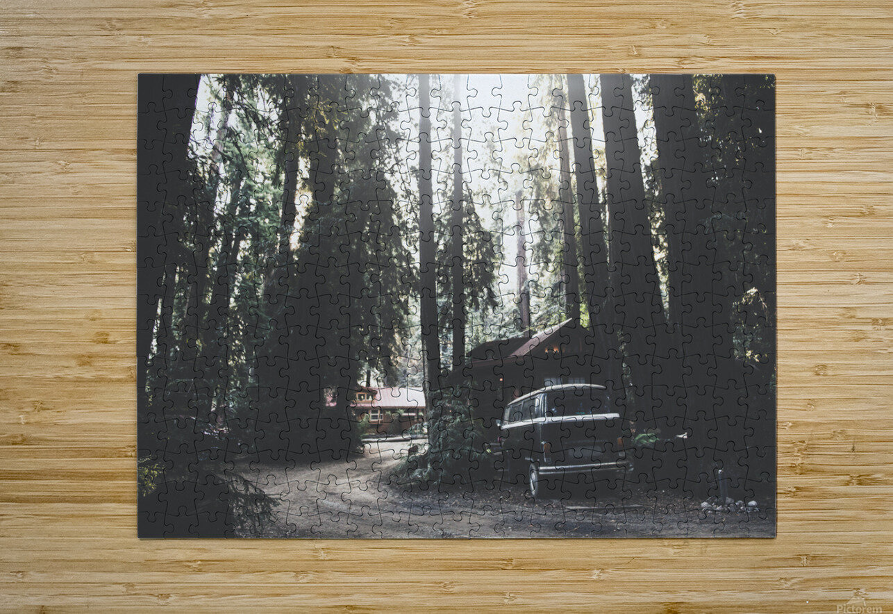 Big Sur Camping  HD Metal print with Floating Frame on Back