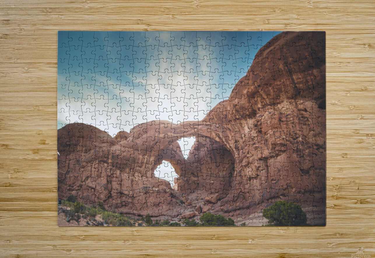 The Double Arch  HD Metal print with Floating Frame on Back