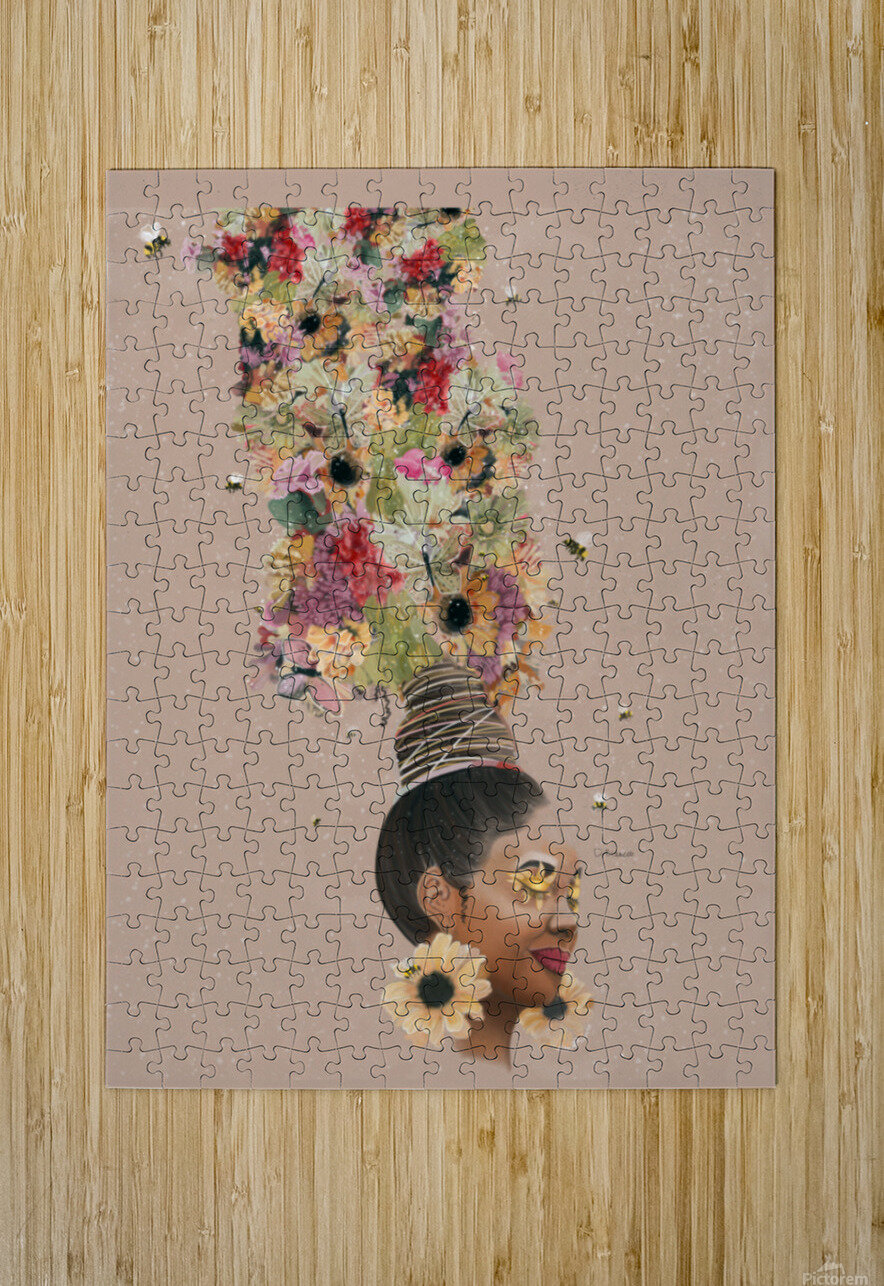 Flower Power  HD Metal print with Floating Frame on Back