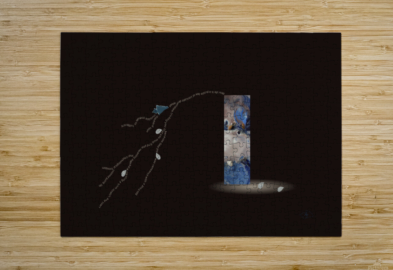 The Puzzle Box  HD Metal print with Floating Frame on Back