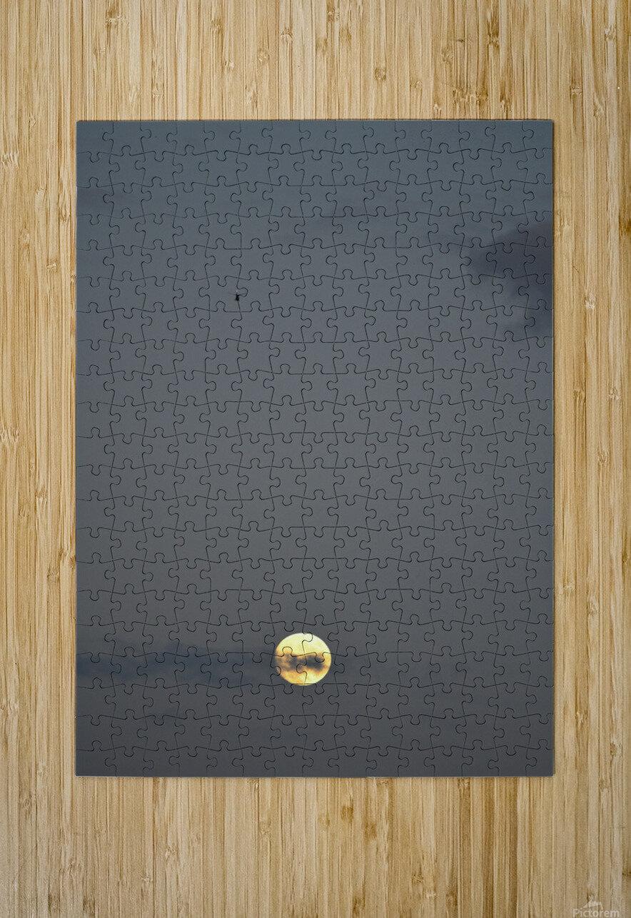 Clair de lune  Impression métal HD avec cadre flottant sur le dos