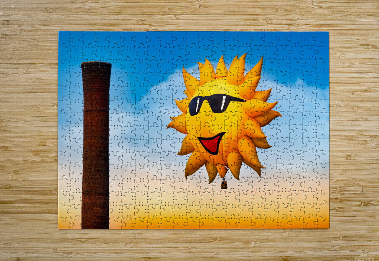 Sunny and the Smokestack  HD Metal print with Floating Frame on Back