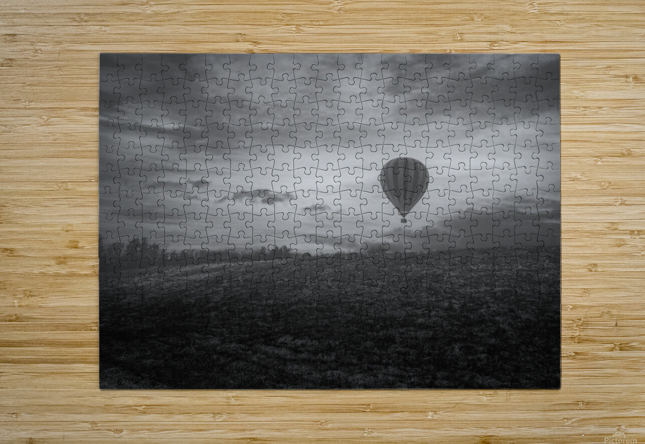 Misty Morning  HD Metal print with Floating Frame on Back