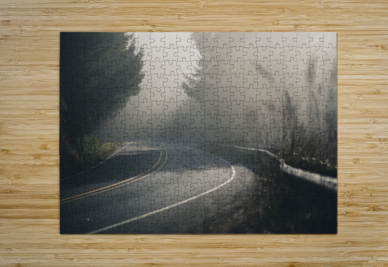 Pacific Coast Highway Mist  HD Metal print with Floating Frame on Back