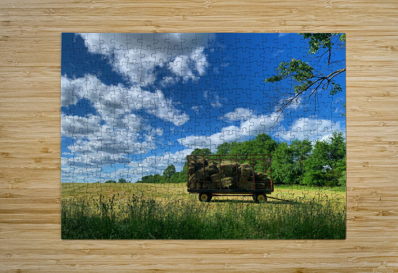 Farm Life   HD Metal print with Floating Frame on Back