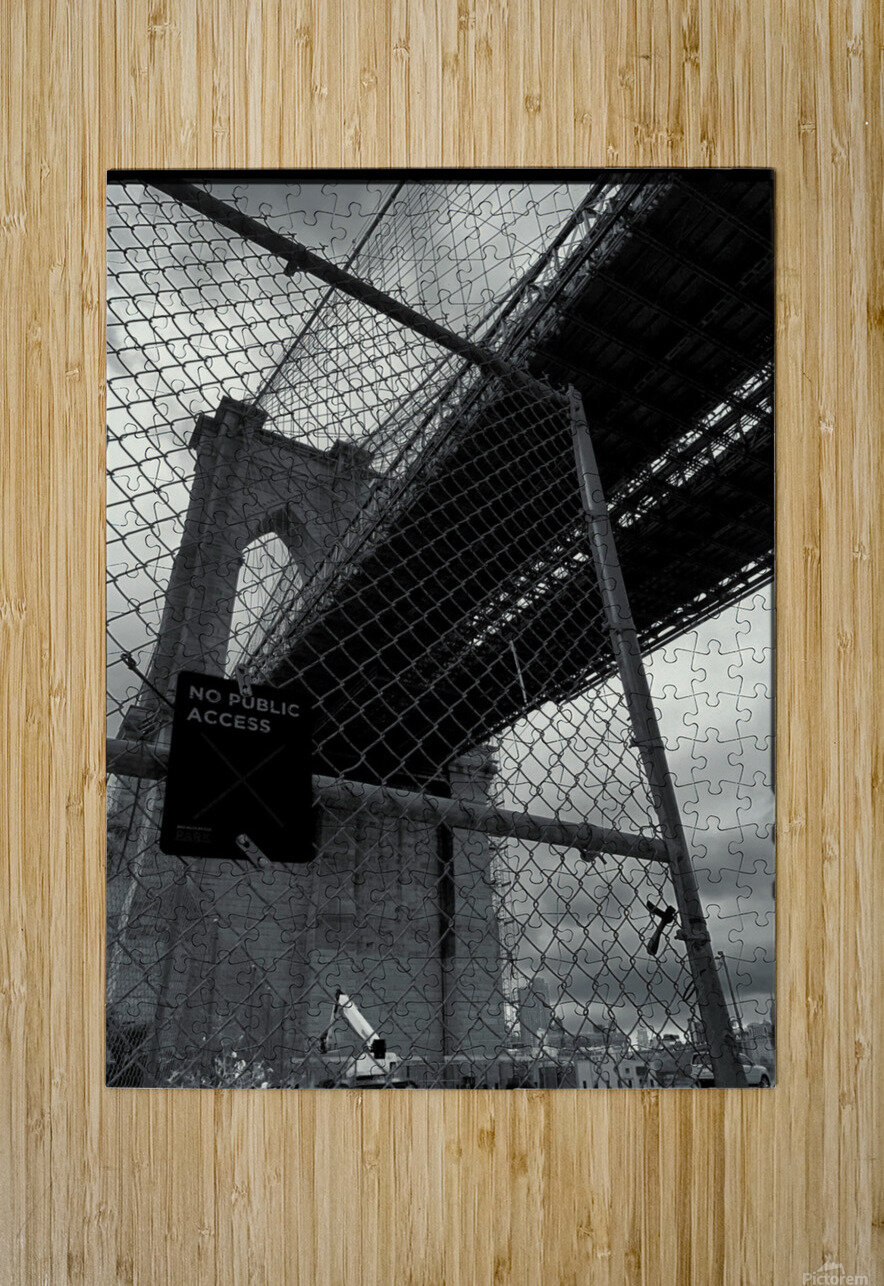 Do Not Enter  HD Metal print with Floating Frame on Back