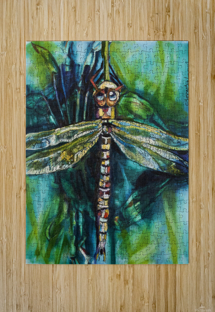 Louisiana Dragonfly  HD Metal print with Floating Frame on Back