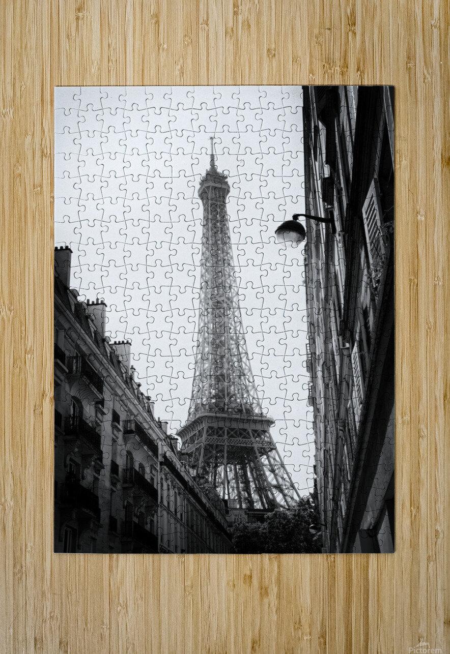 Under the Eiffel tower   Impression métal HD avec cadre flottant sur le dos