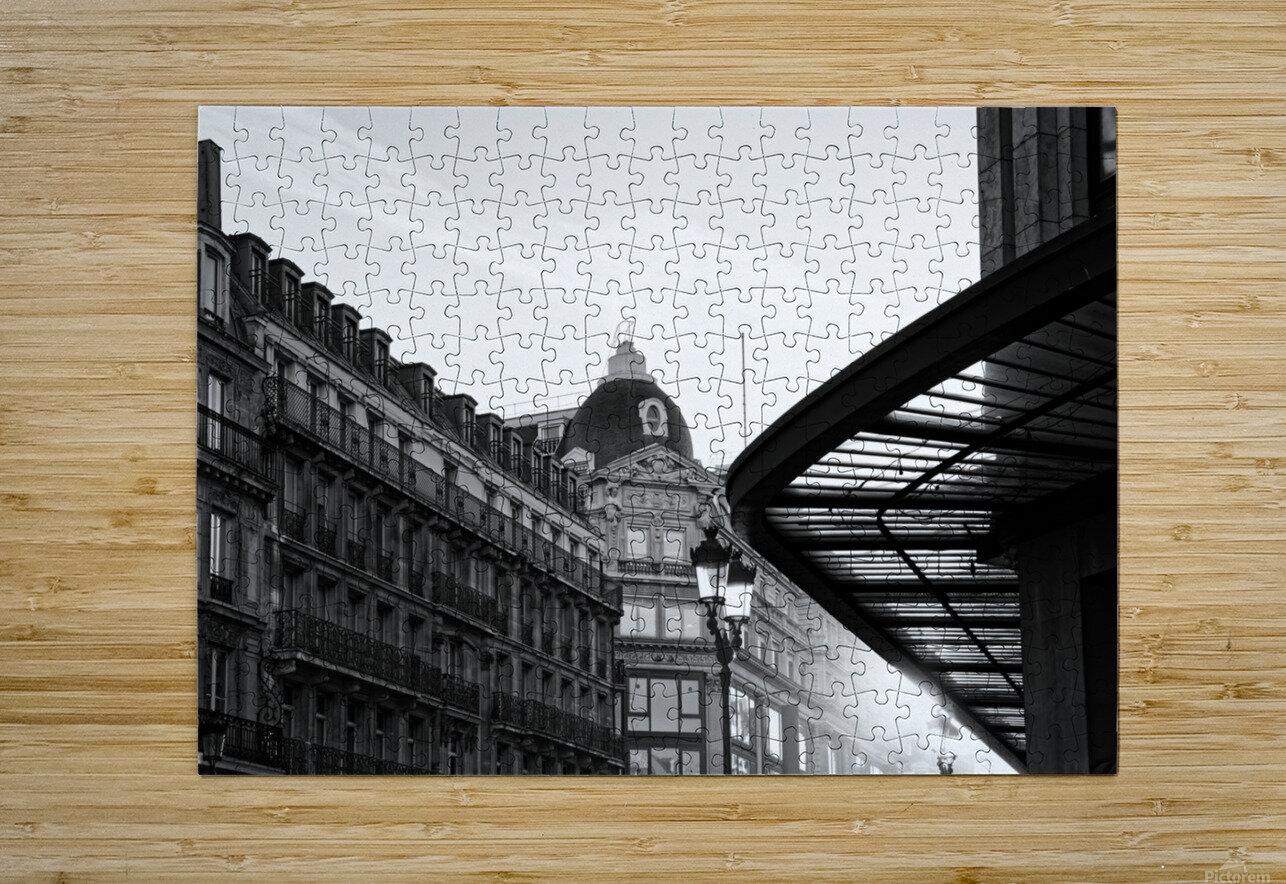 Rivoli street  Impression métal HD avec cadre flottant sur le dos