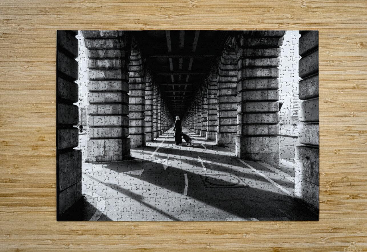 Bercy bridge  Impression métal HD avec cadre flottant sur le dos