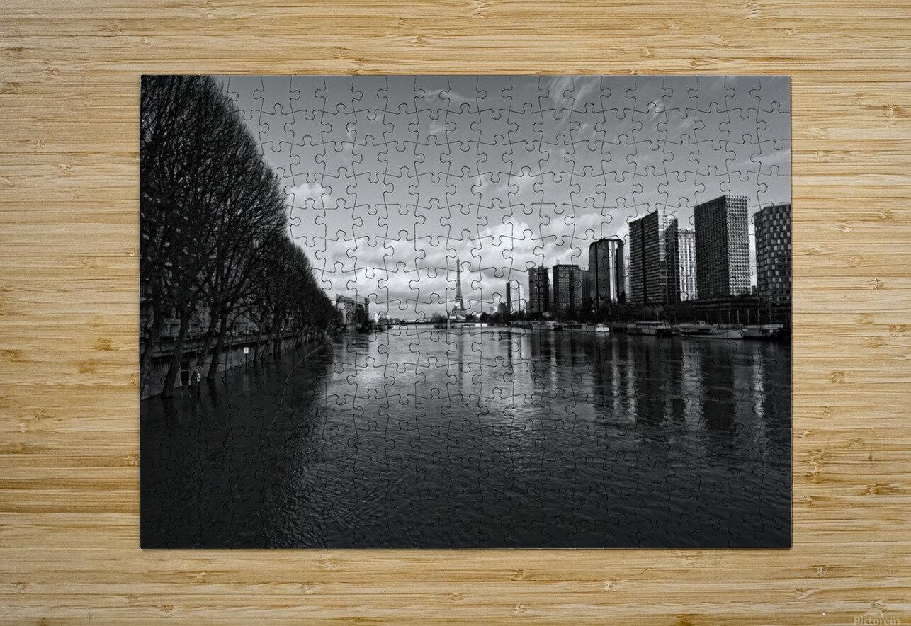 Flood reflection  Impression métal HD avec cadre flottant sur le dos