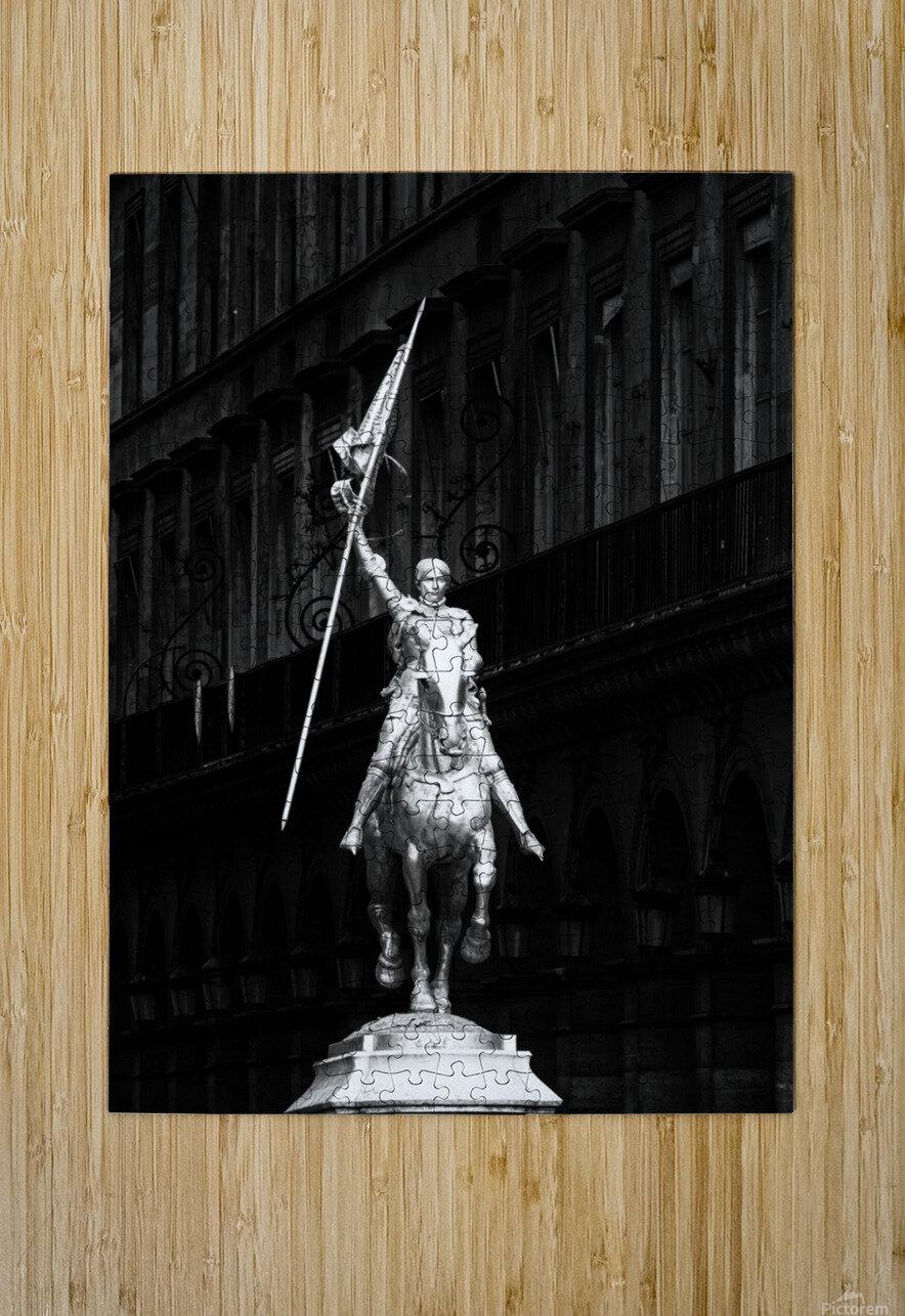 Joan of Arc statue   Impression métal HD avec cadre flottant sur le dos