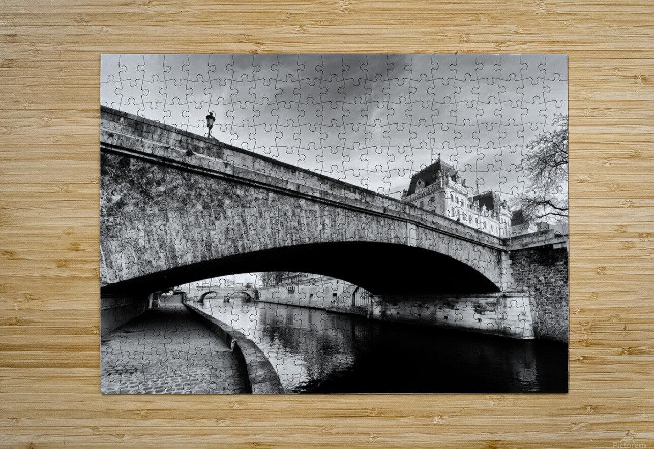 Petit pont   Impression métal HD avec cadre flottant sur le dos