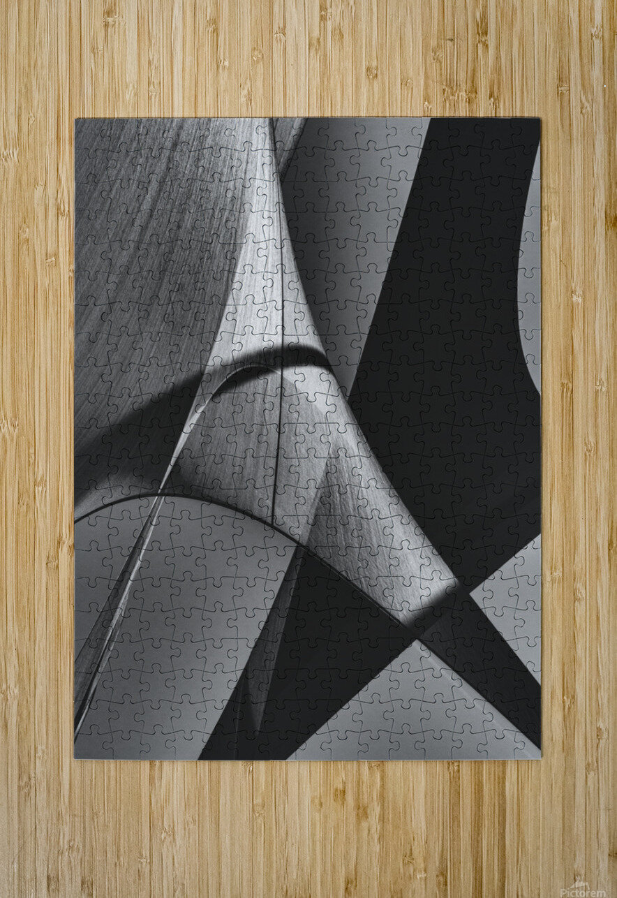 Abstract Sailcloth 16  HD Metal print with Floating Frame on Back