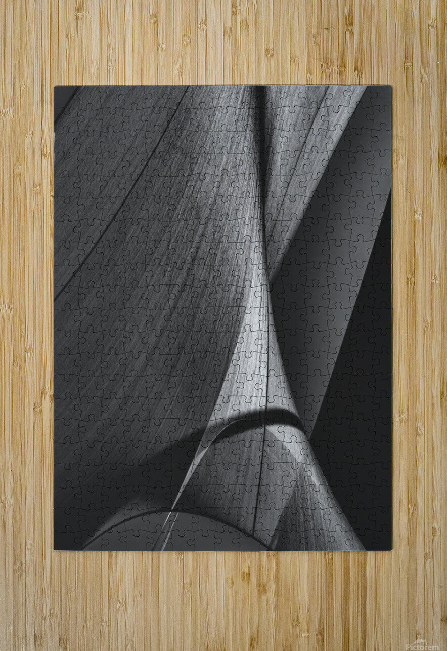 Abstract Sailcloth 17  HD Metal print with Floating Frame on Back