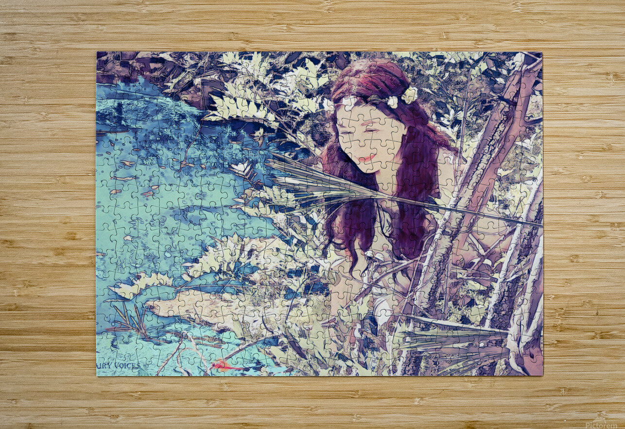 FAIRY AND THE LAKE  Art-Photo 1-4   HD Metal print with Floating Frame on Back