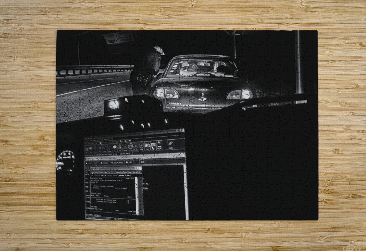 Late Night Traffic Stop 2  HD Metal print with Floating Frame on Back