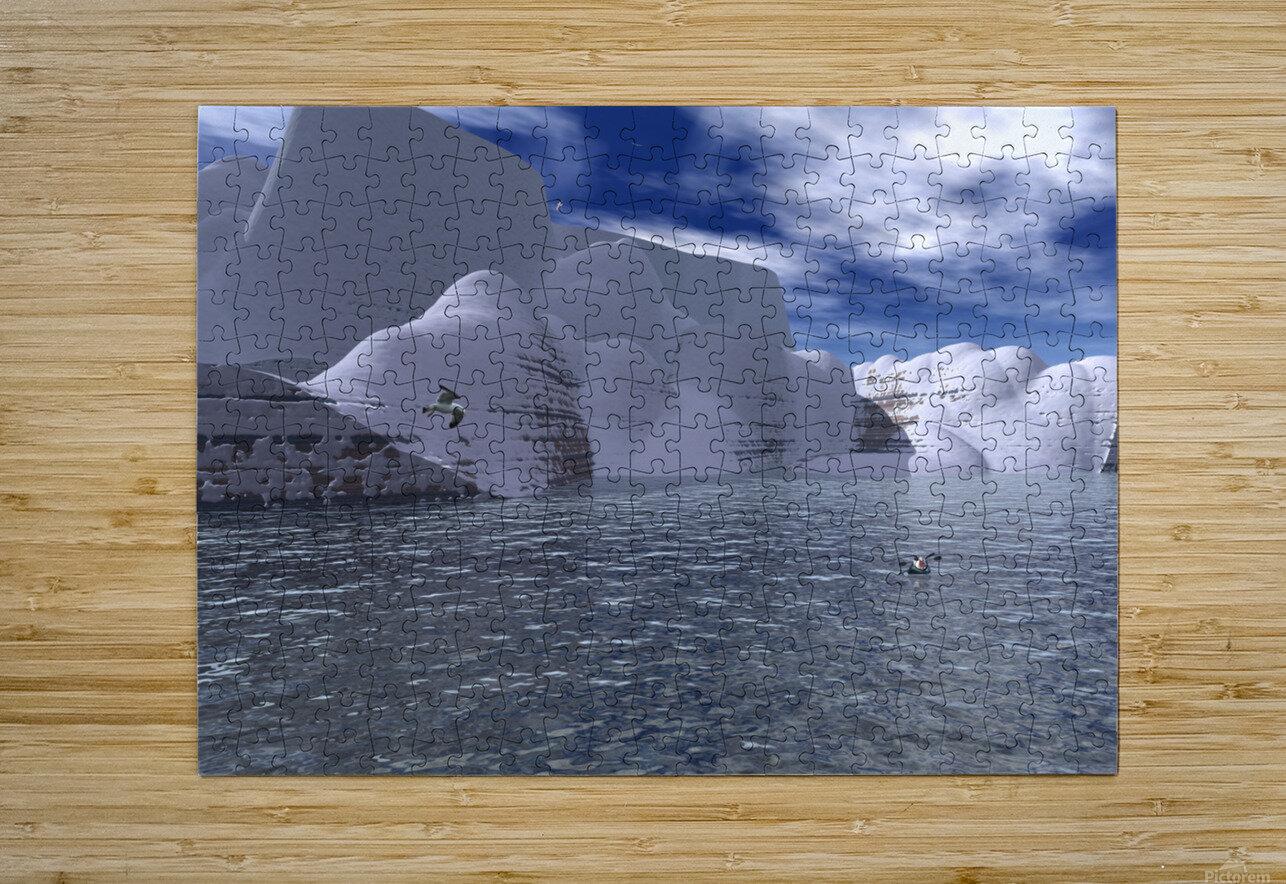 citadelle de glace  HD Metal print with Floating Frame on Back