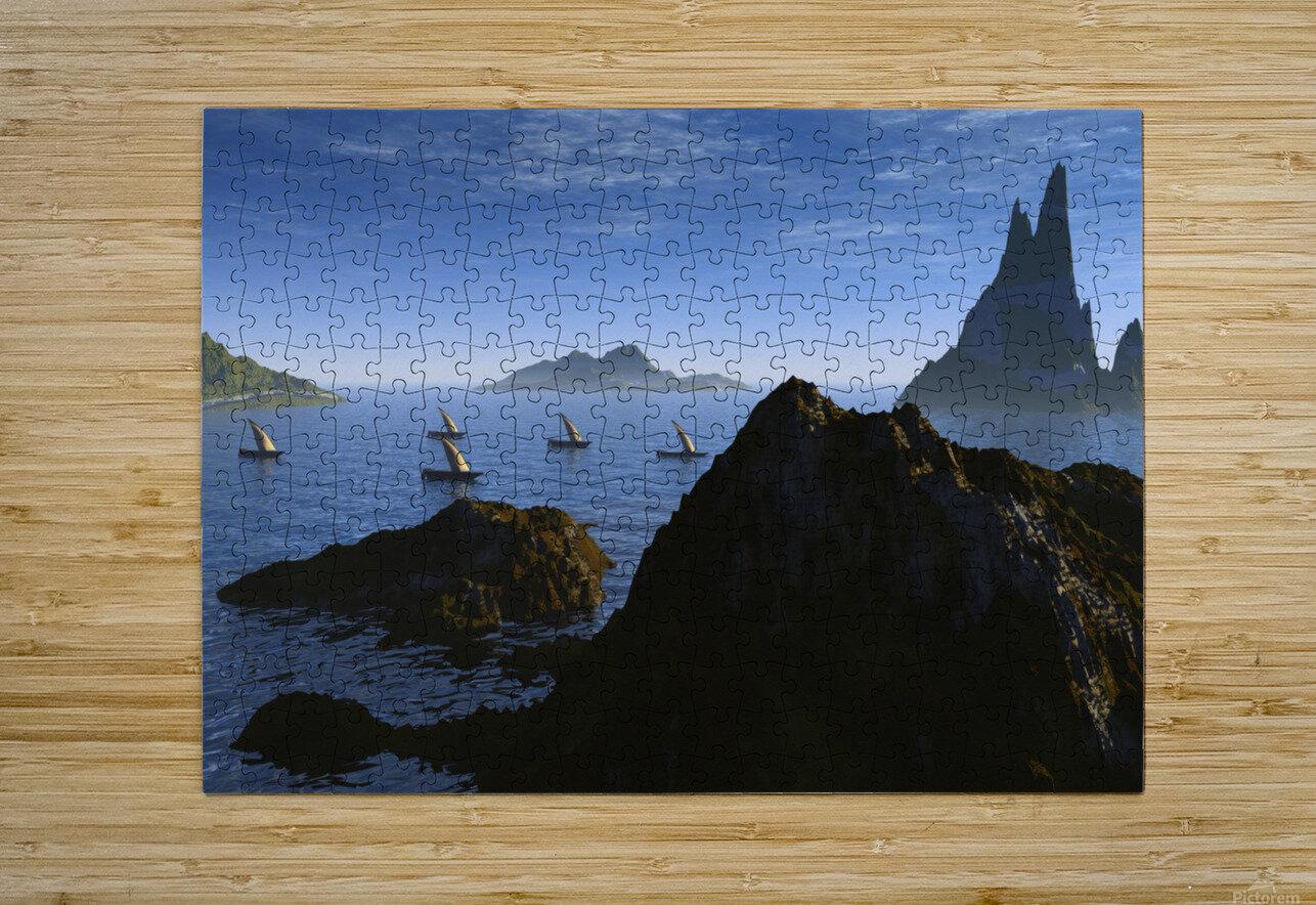 jason et la tooison  HD Metal print with Floating Frame on Back