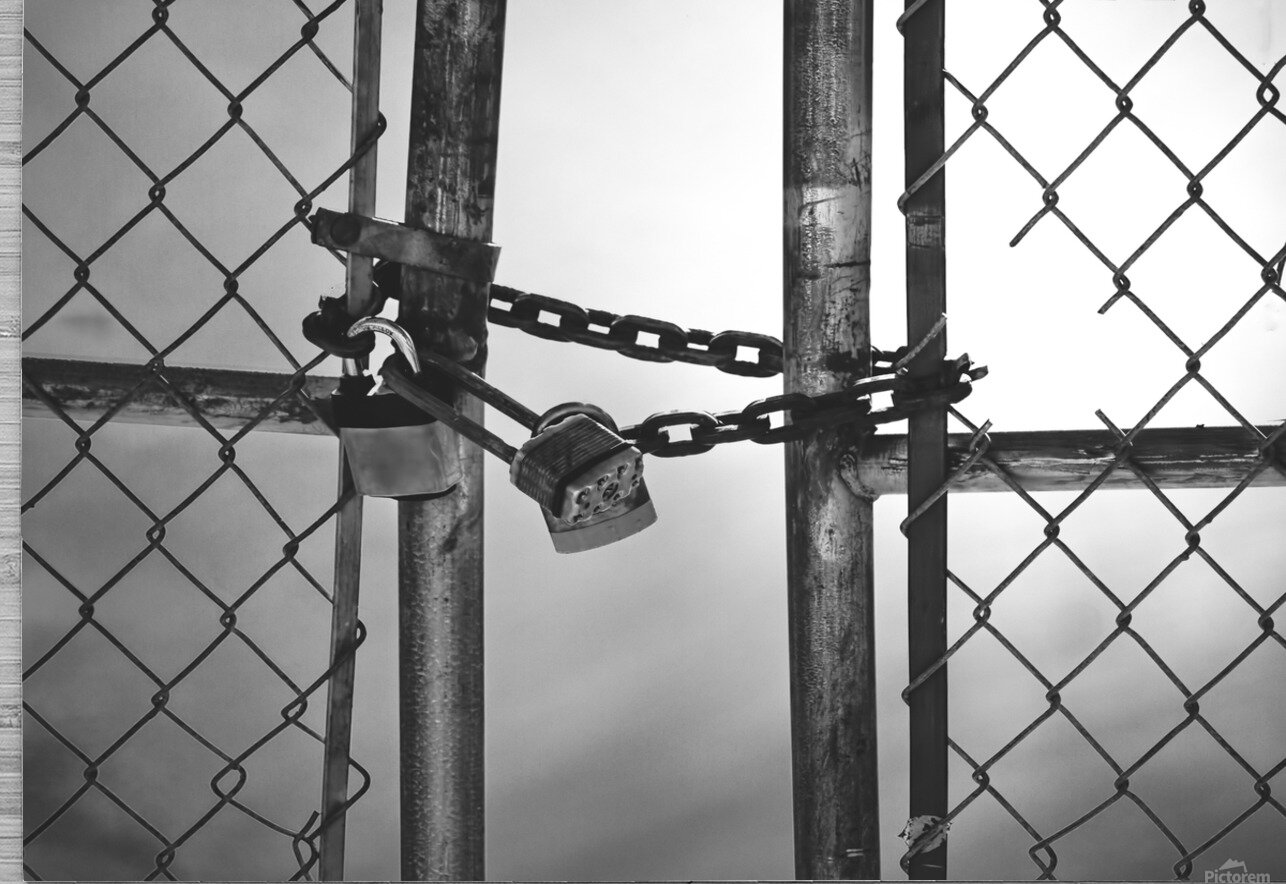 Fog Behind The Gate  HD Metal print with Floating Frame on Back