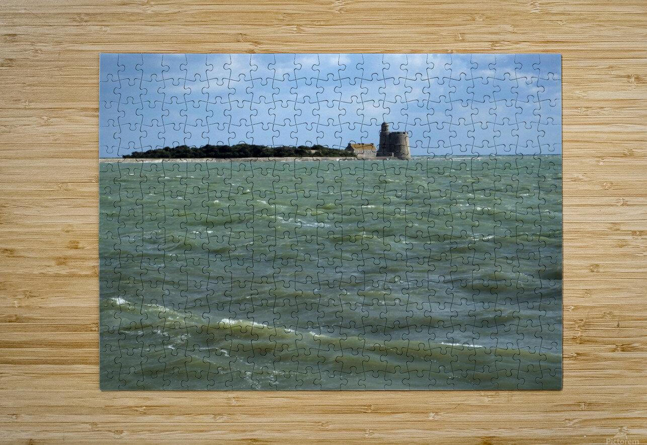 Vauban Tower on Tattihou island ile de Tattihou et sa tour Vauban  HD Metal print with Floating Frame on Back
