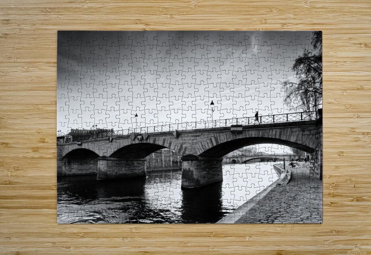 Archeveche bridge  Impression métal HD avec cadre flottant sur le dos